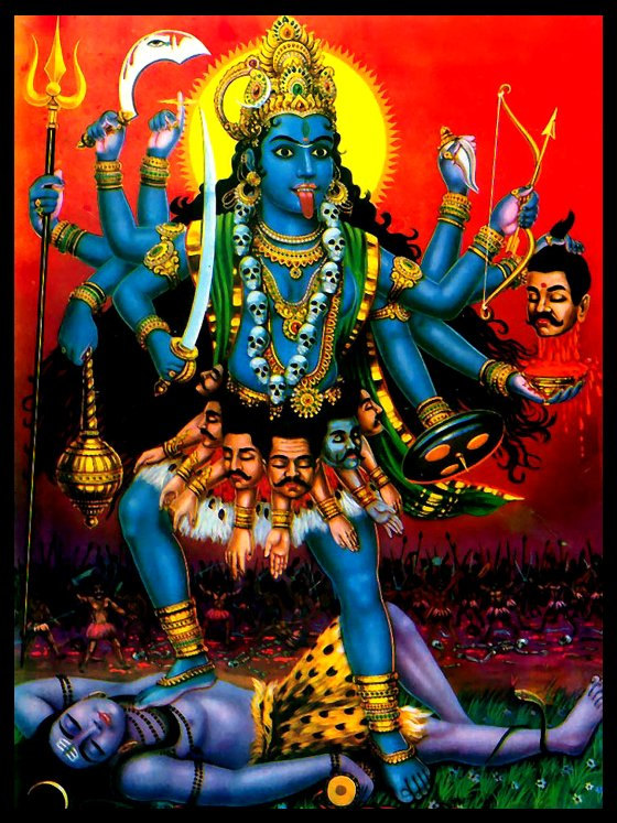 hindu kali According to hindu teachings, kali is goddess of time or change, but is most  notably known by non-hindus for her darkness and violence.
