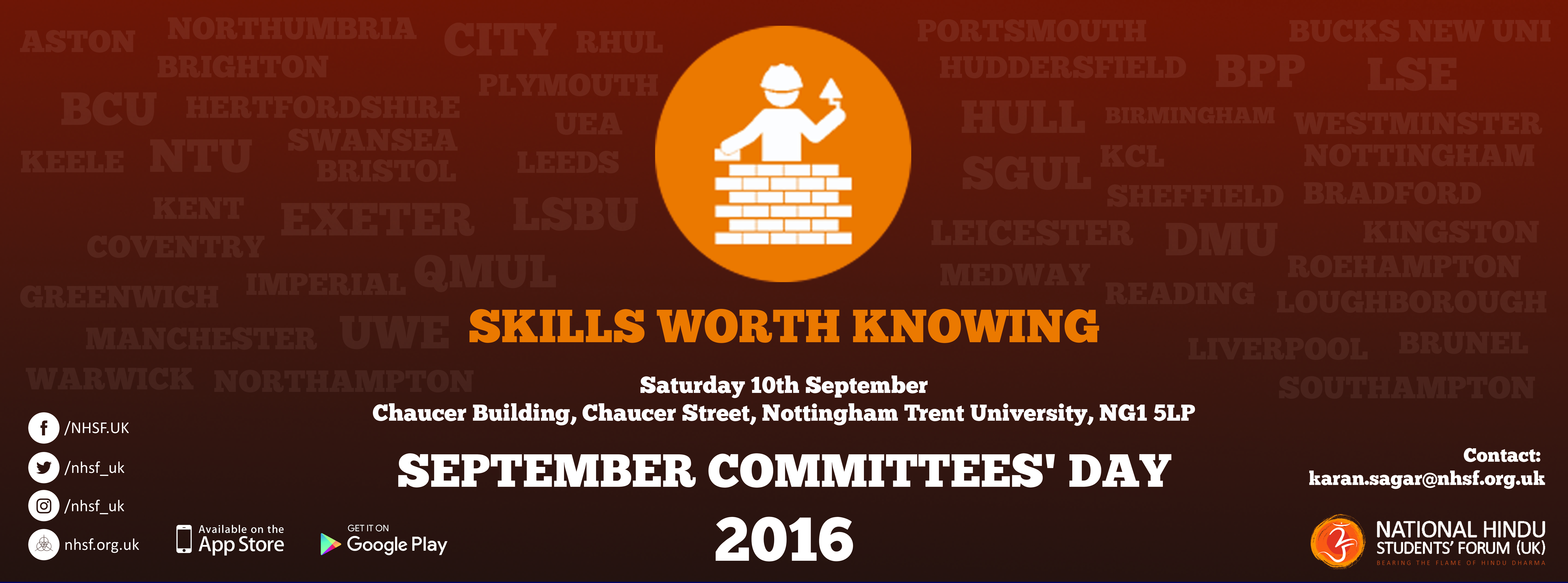NHSF (UK) September Committees' Day – Skills Worth Knowing