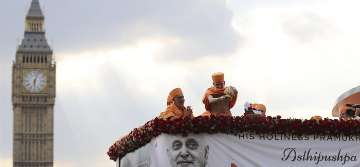 His Holiness Mahant Swami Maharaj visits the United Kingdom