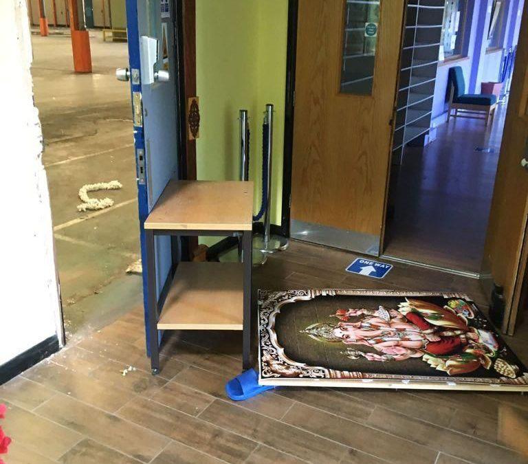 Swindon Hindu Mandir broken into and vandalised. Again.